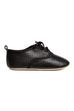 Soft leather shoes - Dark grey - Kids | H&M 2