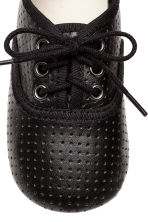 Soft leather shoes - Dark grey - Kids | H&M 3