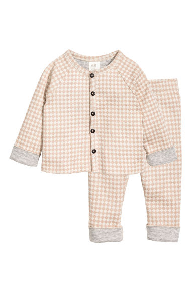 Cardigan and trousers - Light beige/Pattern - Kids | H&M 1