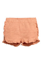 Frilled shorts - Apricot -  | H&M CN 1