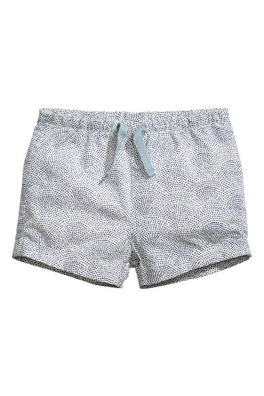 Cotton shorts - White/Spotted - Kids | H&M CN 1