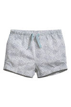Cotton shorts - White/Spotted -  | H&M 1