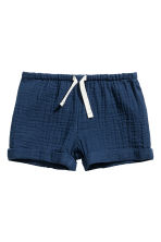 Cotton shorts - Dark blue - Kids | H&M CN 1