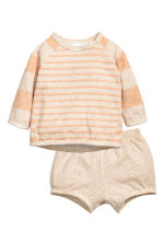 Top and shorts - Beige/Apricot - Kids | H&M 1
