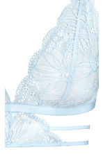 Soft lace bra - Light blue - Ladies | H&M 3