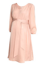 MAMA V-neck dress - Powder pink - Ladies | H&M CN 2