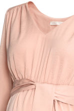 MAMA V-neck dress - Powder pink - Ladies | H&M CN 3