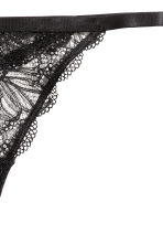 Lace thong briefs - Black - Ladies | H&M 2