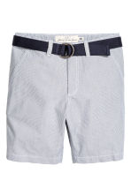 Shorts with a belt - Blue/White/Striped - Kids | H&M 2