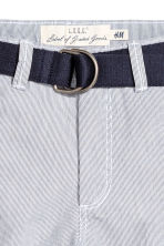 Shorts with a belt - Blue/White/Striped - Kids | H&M 3