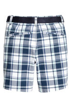 Shorts with a belt - Dark blue/Checked -  | H&M 3