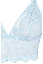 Lace bralette - Light blue - Ladies | H&M 2