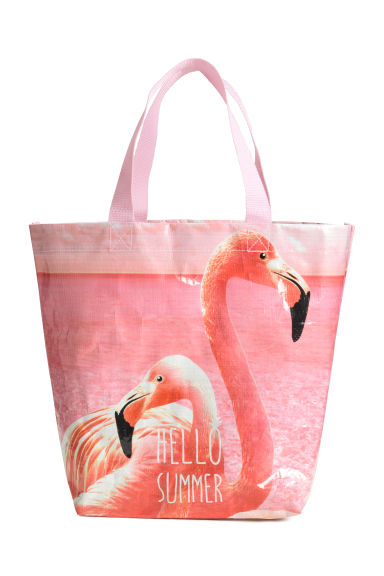 Beach bag - Light pink/Flamingo - Home All | H&M CN 1