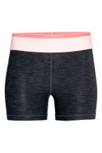 Short sports tights - Dark grey marl - Ladies | H&M 2