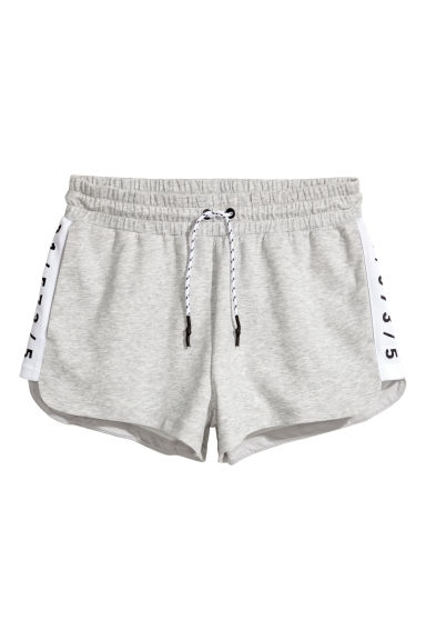 Short sports shorts - Light grey marl -  | H&M 1