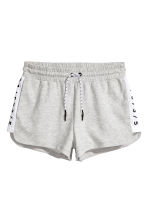 Short sports shorts - Light grey marl -  | H&M CN 1
