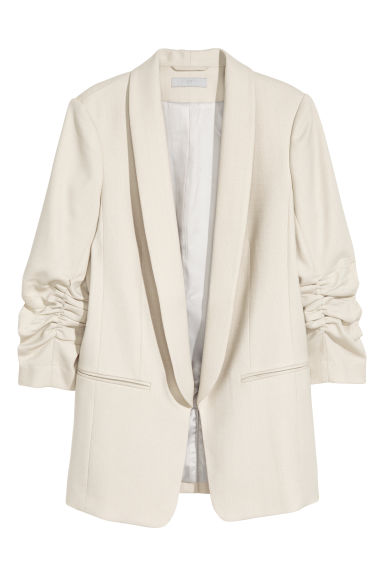 Fitted jacket - Light beige - Ladies | H&M CN 1