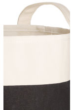 Small storage basket - White/Black - Home All | H&M CN 3