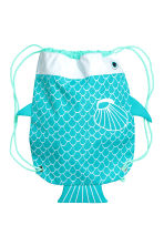 Patterned storage bag - Turquoise/Fish - Home All | H&M CN 2