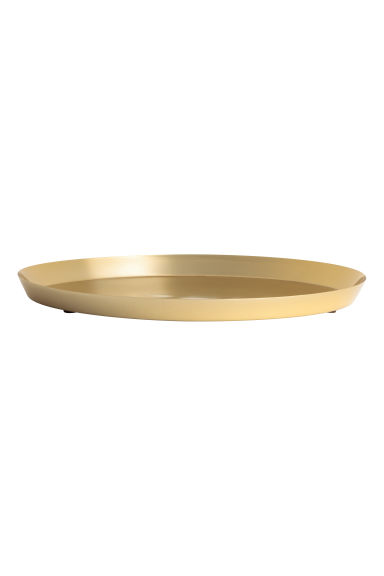 Round metal tray - Gold - Home All | H&M CA 1