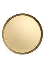 Round metal tray - Gold - Home All | H&M CA 2