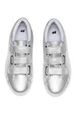 Leather trainers - Silver - Men | H&M 3