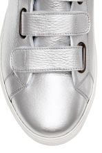 Leather trainers - Silver - Men | H&M 4