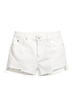 Denim shorts - White denim - Ladies | H&M 2