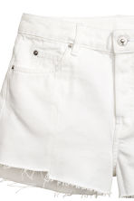 Denim shorts - White denim - Ladies | H&M 4