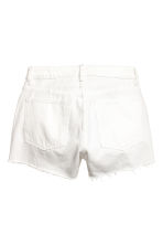 Denim shorts - White denim - Ladies | H&M CN 3