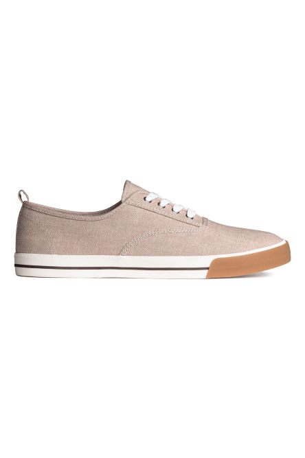 Cotton canvas trainers