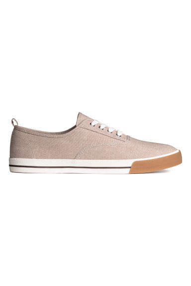 Cotton canvas trainers - Beige - Men | H&M