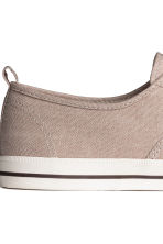 Cotton canvas trainers - Beige - Men | H&M 4
