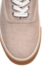 Sneakers in tela di cotone - Beige - UOMO | H&M IT 3