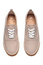 Cotton canvas trainers - Beige - Men | H&M 2