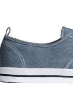 Cotton canvas trainers - Grey-blue - Men | H&M 4