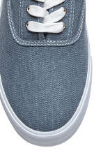 Cotton canvas trainers - Grey-blue - Men | H&M CN 3