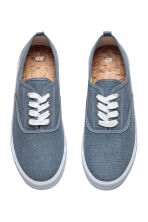 Cotton canvas trainers - Grey-blue - Men | H&M CN 2