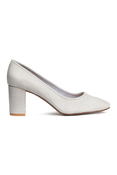 Block-heel court shoes - Light grey - Ladies | H&M CN