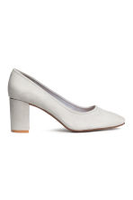 Block-heel court shoes - Light grey - Ladies | H&M CN 1