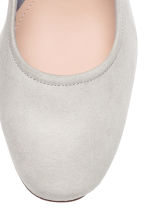 Block-heel court shoes - Light grey - Ladies | H&M CN 3
