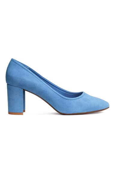 Block-heel court shoes - Blue - Ladies | H&M