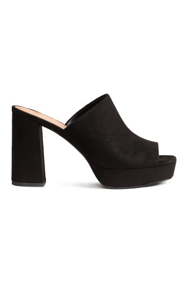 Platform mules - Black - Ladies | H&M CN