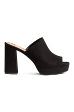 Platform mules - Black - Ladies | H&M 1