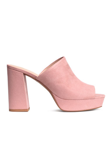 Platform mules - Light pink - Ladies | H&M 1