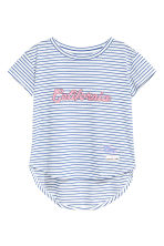 Short-sleeved printed top - Blue/White/Striped - Kids | H&M 2