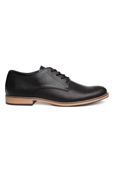Perforated Derby shoes - Black - Men | H&M CN