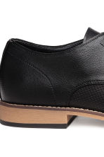 Perforated Derby shoes - Black - Men | H&M 4