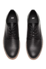 Perforated Derby shoes - Black - Men | H&M 2