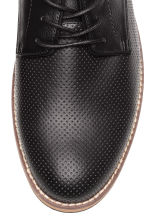 Perforated Derby shoes - Black - Men | H&M 3